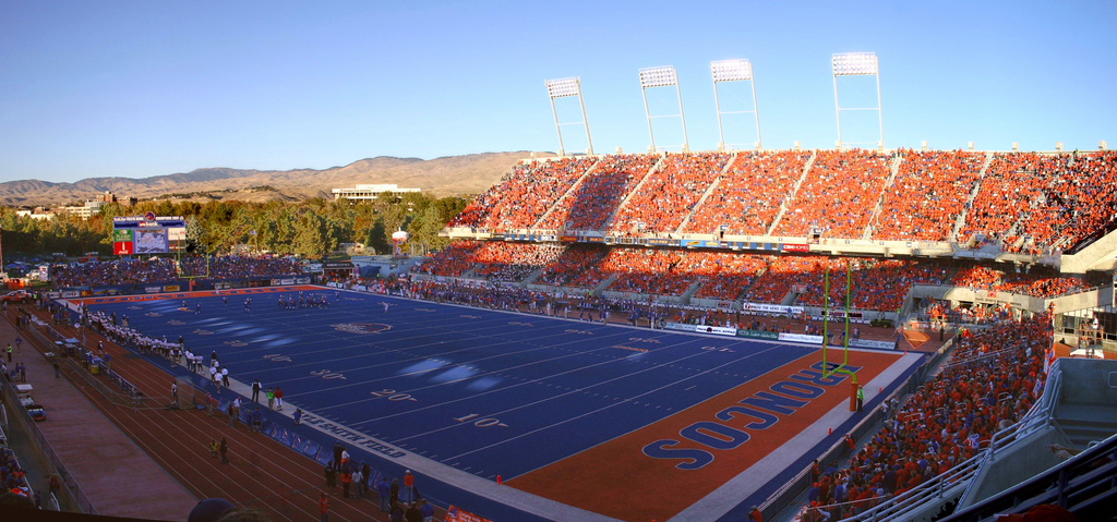 Albertsons Stadium, home of the Boise State Broncos