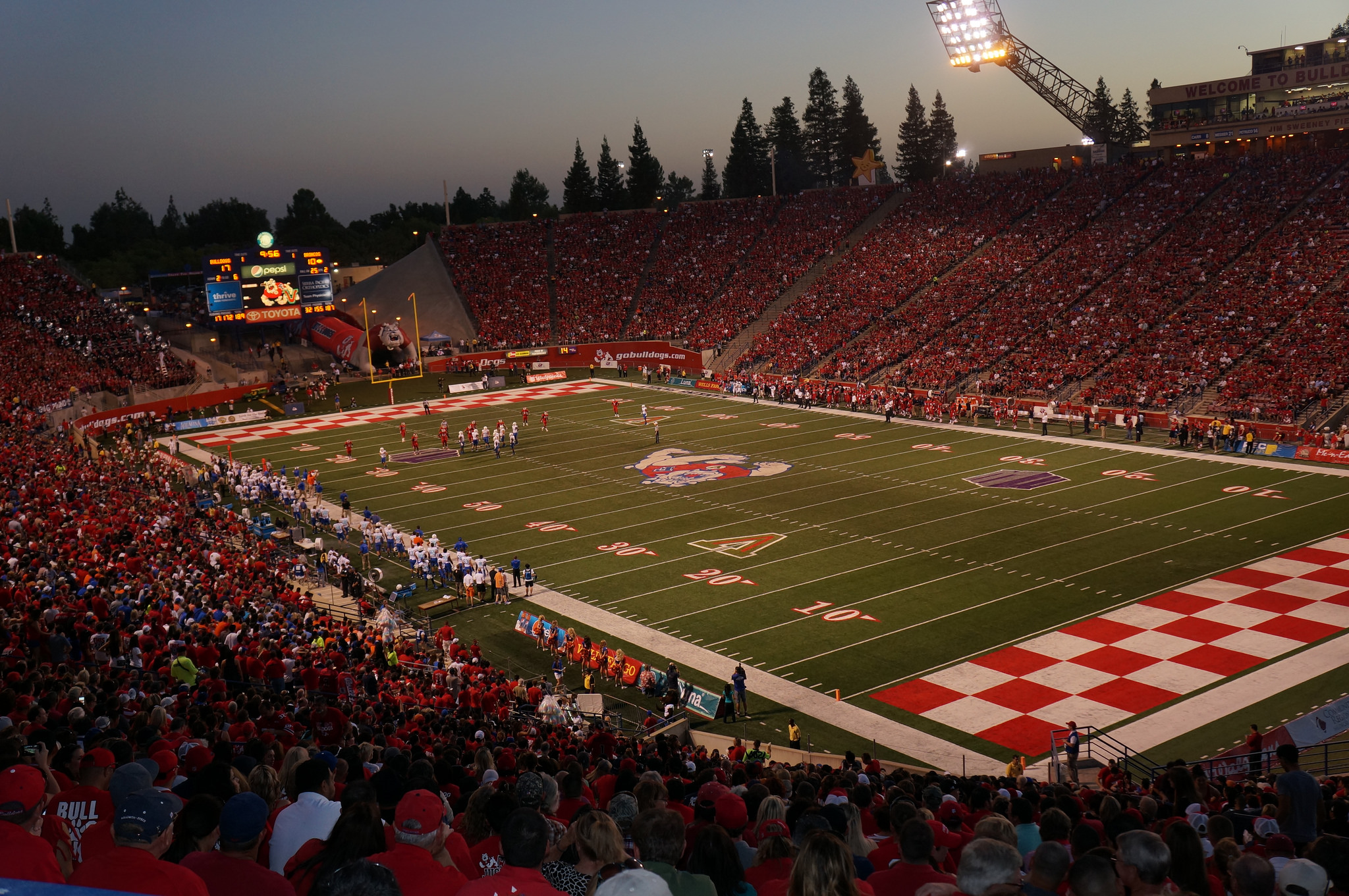 Bulldog Stadium, home of the Fresno State Bulldogs