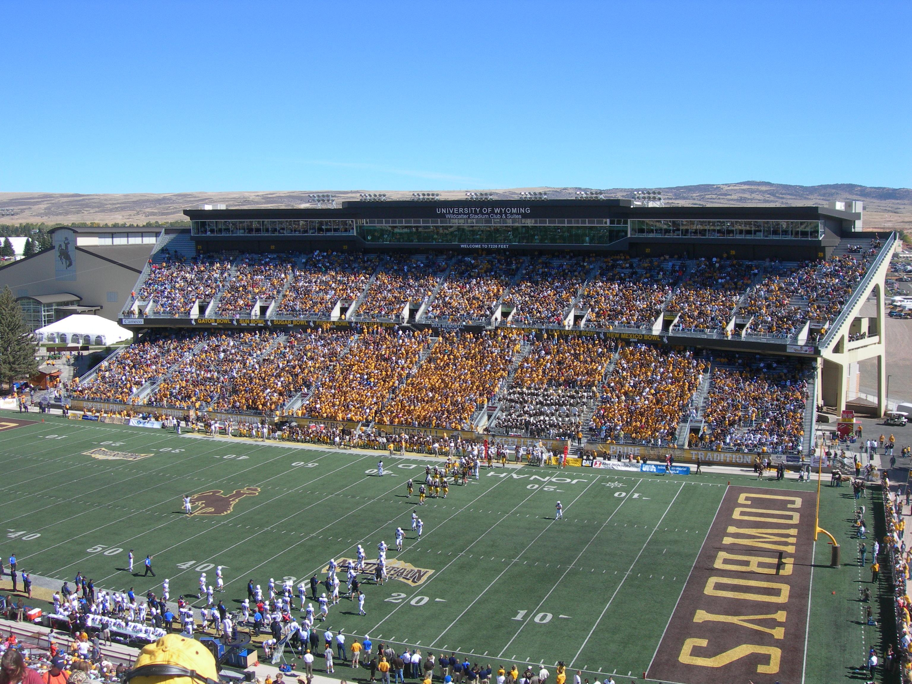 War Memorial Stadium, home of the Wyoming Cowboys