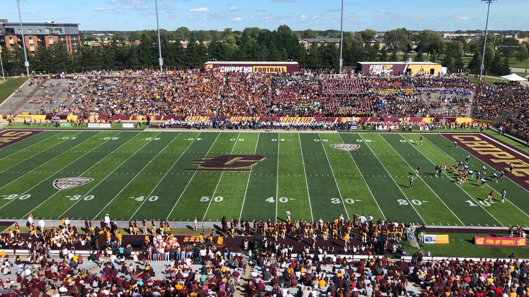 Kelly Shorts Stadium, home of the Central Michigan Chippewas