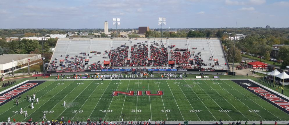 Huskie Stadium, home of the Northern Illinois Huskies