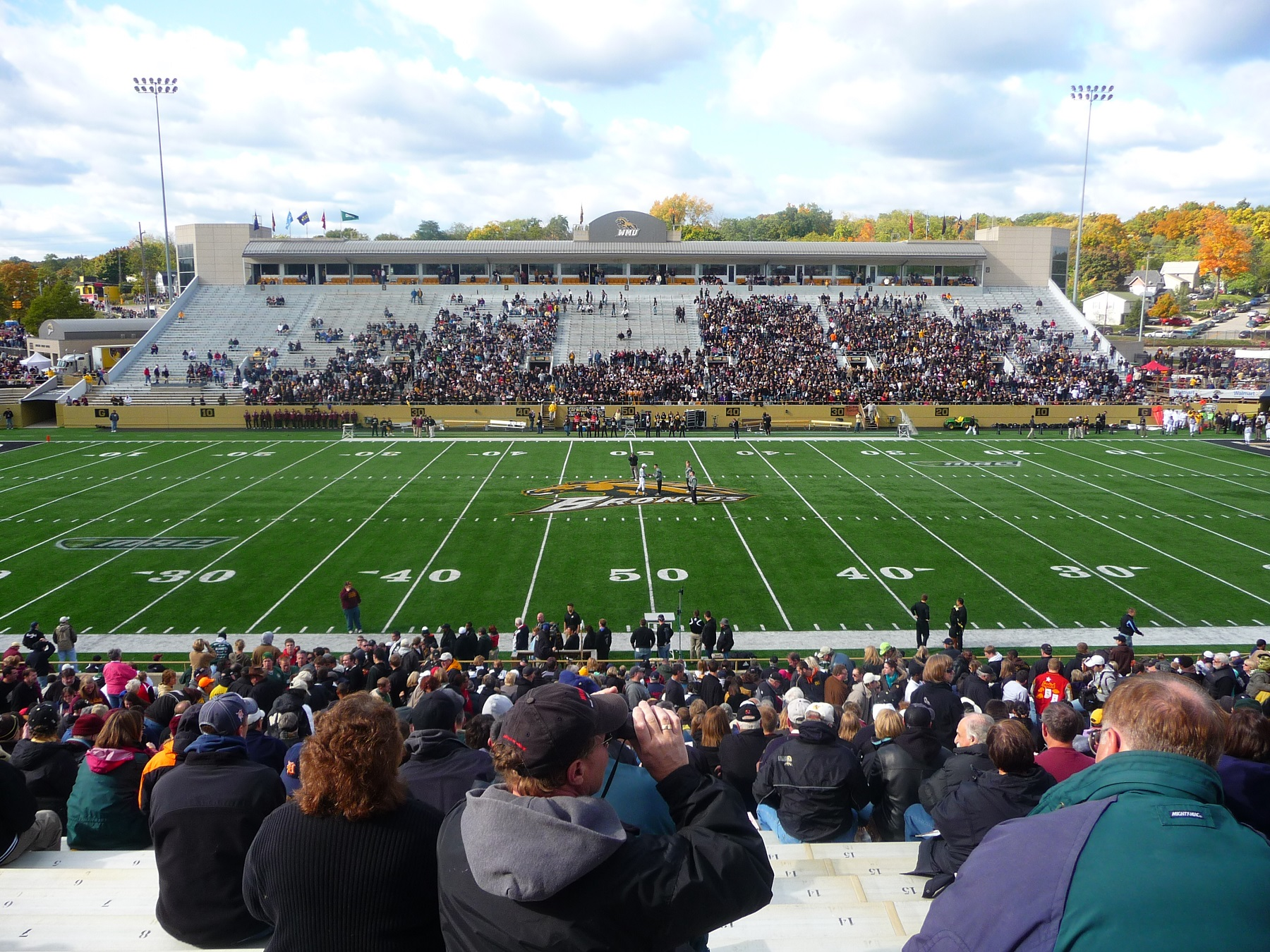 Waldo Stadium, home of the Western Michigan Broncos